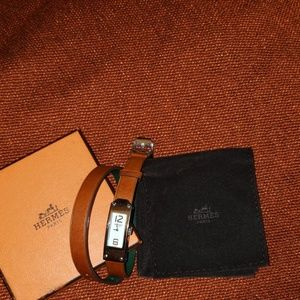 Hermes infinity watch brown band
